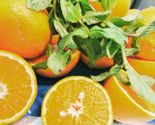 arancia e menta gelato spilamberto modena